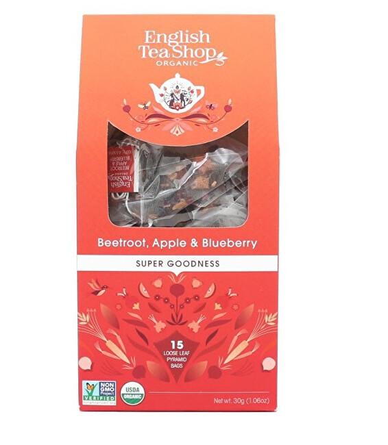 Zobrazit detail výrobku English Tea Shop Červená řepa, jablko a borůvka 15 pyramidek sypaného čaje
