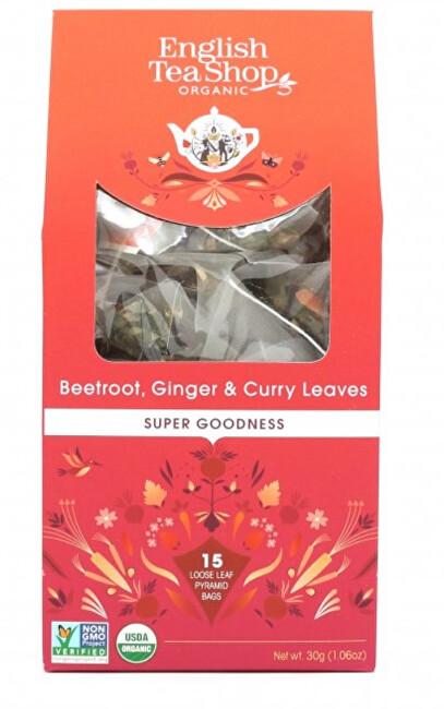 Zobrazit detail výrobku English Tea Shop Červená řepa, zázvor a kari 15 pyramidek sypaného čaje