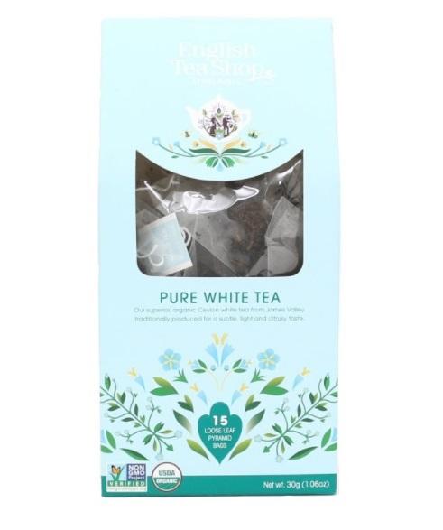 Zobrazit detail výrobku English Tea Shop Čistý bílý čaj 15 pyramidek sypaného čaje