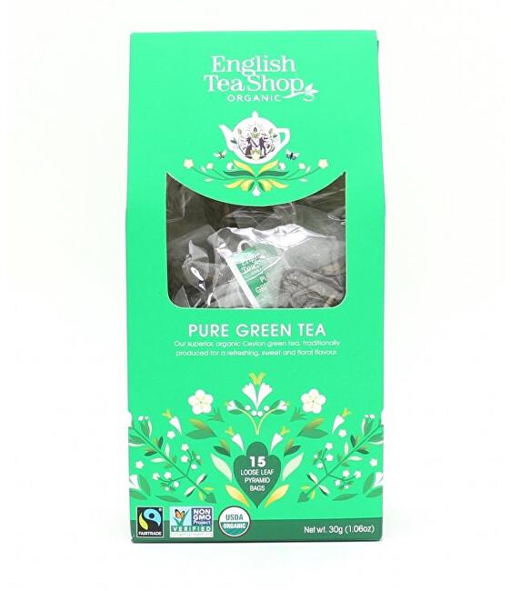 Zobrazit detail výrobku English Tea Shop Čistý zelený čaj 15 pyramidek sypaného čaje