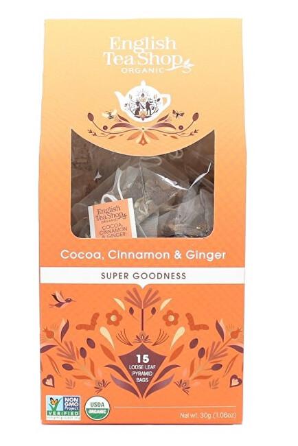 Zobrazit detail výrobku English Tea Shop Kakao, skořice a zázvor 15 pyramidek sypaného čaje