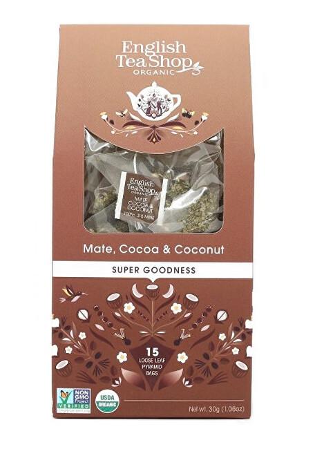Zobrazit detail výrobku English Tea Shop Maté, kakao a kokos 15 pyramidek sypaného čaje