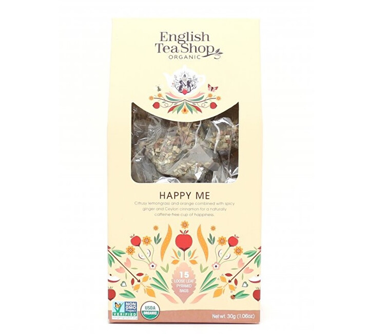 Zobrazit detail výrobku English Tea Shop Pocit štěstí 15 pyramidek sypaného čaje