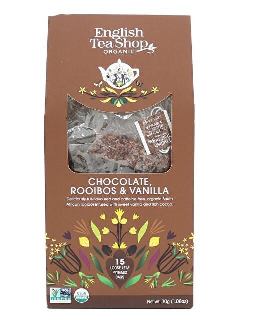 Rooibos, čokoláda a vanilka 15 pyramidek sypaného čaje