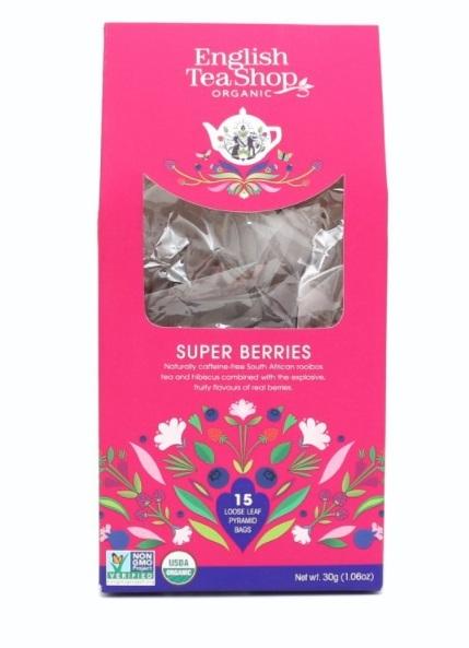 English Tea Shop Super ovocný čaj 15 pyramidek sypaného čaje