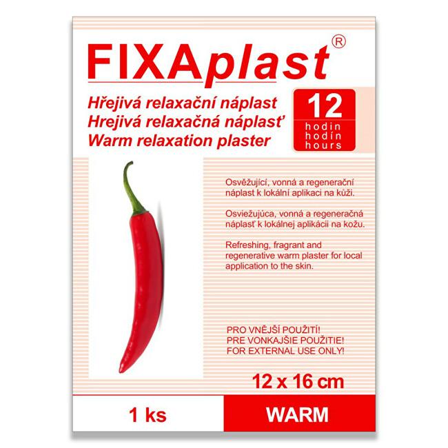 Zobrazit detail výrobku FIXAplast Kapsaicínová hřejivá náplast WARM 12 x 16 cm 1 ks