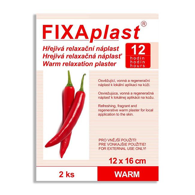 Zobrazit detail výrobku FIXAplast Kapsaicínová hřejivá náplast WARM 12 x 16 cm 2 ks