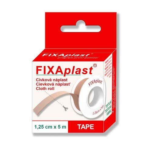 Zobrazit detail výrobku FIXAplast Náplast FIXAPLAST cívka 1,25cm x 5m
