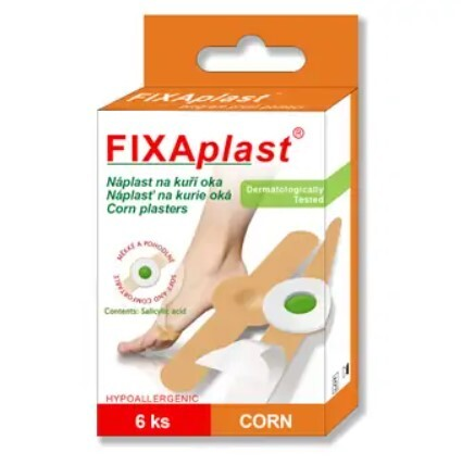 Zobrazit detail výrobku FIXAplast Náplast FIXAPLAST CORN (na kuří oka) 6 ks