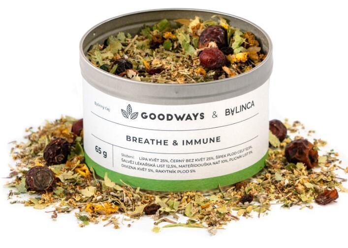 Zobrazit detail výrobku GoodWays Breathe & Immune bylinný čaj 60 g