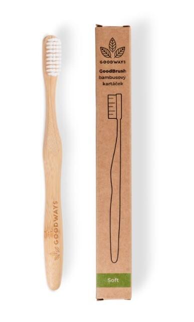 Zobrazit detail výrobku GoodWays GoodBrush bambusový kartáček Bílá
