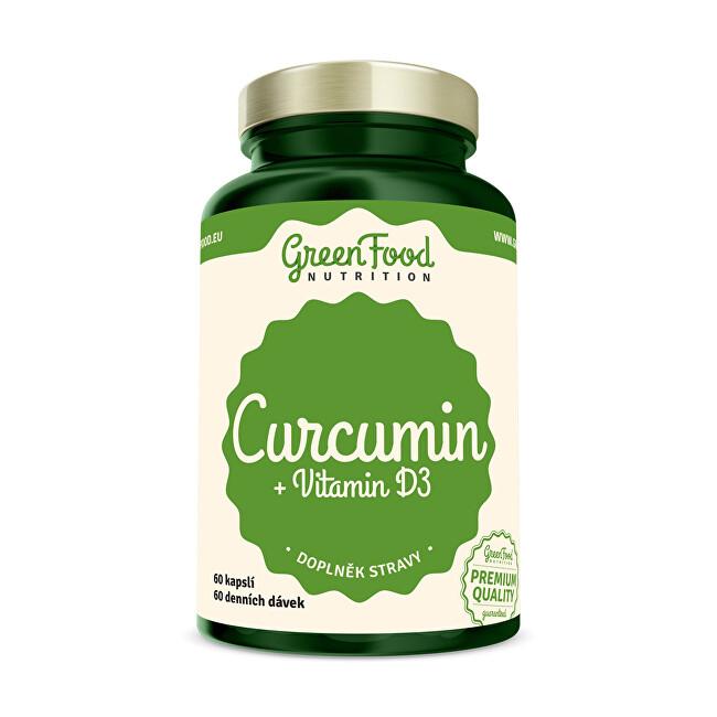 Zobrazit detail výrobku GreenFood Nutrition Curcumin + vitamín D3 60 kapslí