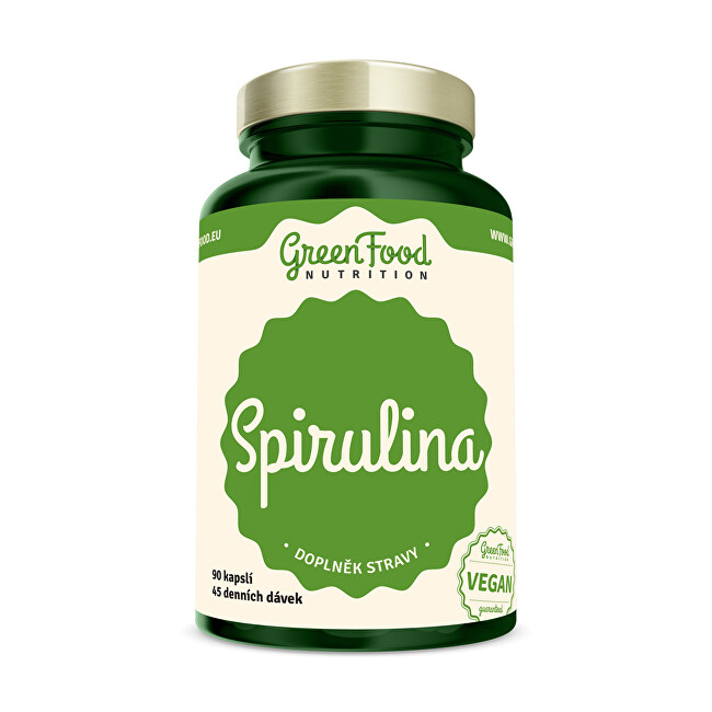 Zobrazit detail výrobku GreenFood Nutrition Spirulina 90 kapslí