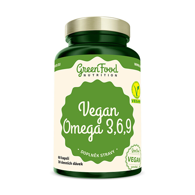 Zobrazit detail výrobku GreenFood Nutrition Vegan Omega 3,6,9 60 kapslí