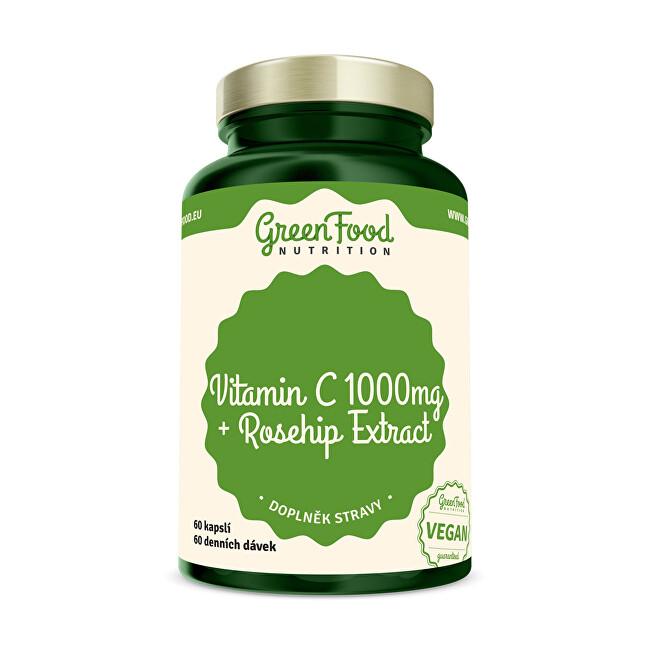 Zobrazit detail výrobku GreenFood Nutrition Vitamin C 1000 + Extrakt ze šípků 60 kapslí