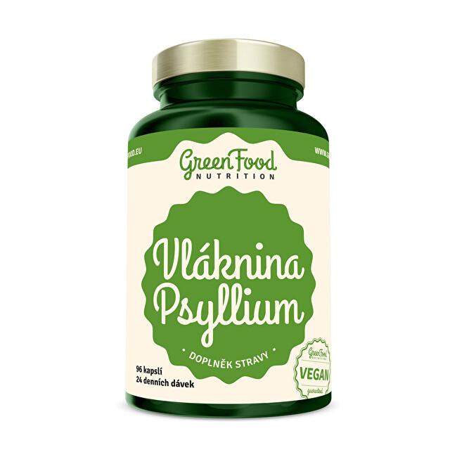 Zobrazit detail výrobku GreenFood Nutrition Vláknina Psyllium 96 kapslí