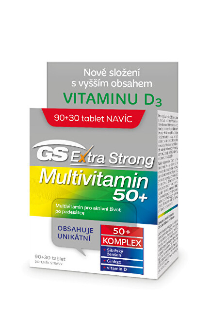 Zobrazit detail výrobku Green-Swan GS Extra Strong Multivitamin 50+ - 90+30 tablet