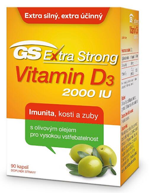 Zobrazit detail výrobku Green-Swan GS Extra Strong Vitamin D3 2000 IU 90 kapslí