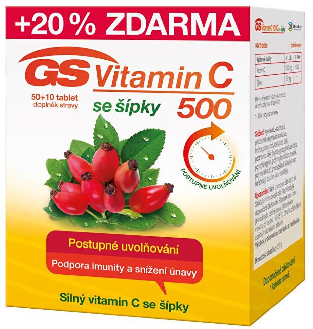 Zobrazit detail výrobku GreenSwan GS Vitamin C 500 + šípky 50 + 10  tablet