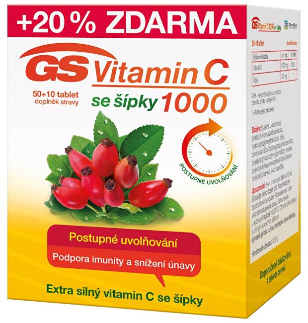Zobrazit detail výrobku GreenSwan GS Vitamin C1000 + šípky 50 + 10 tablet