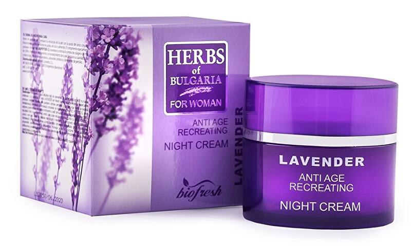 Zobrazit detail výrobku HERBS OF BULGARIA - LAVENDER Noční krém proti stárnutí pleti z levandule 50 ml