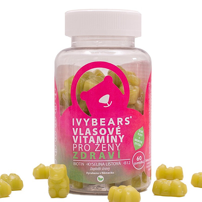 IvyBears - vlasové vitamíny pro ženy 60 medvídků - Zdraví