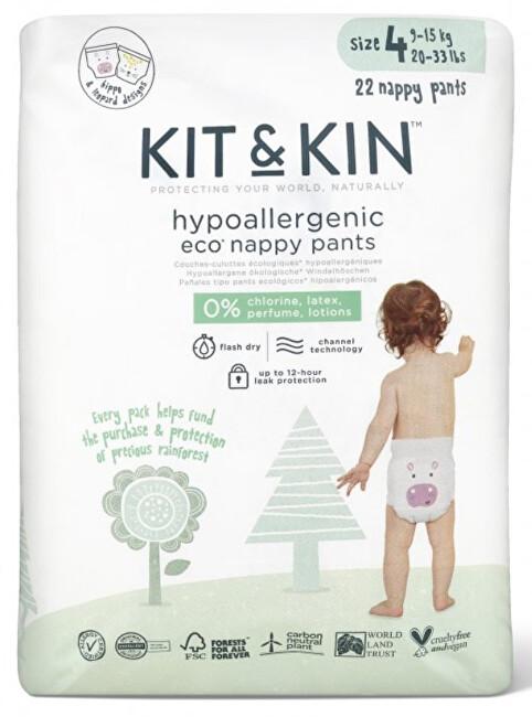 Zobrazit detail výrobku Kit & Kin Kit & Kin Eko plenkové kalhotky pull-ups velikost 4, 9-15 kg - 22 ks