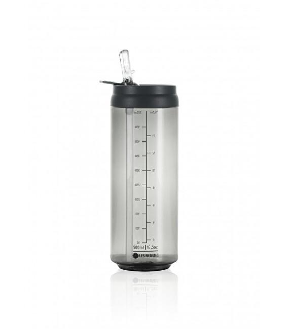 Zobrazit detail výrobku LES ARTISTES Cestovní láhev 500 ml Transparent Dark Grey