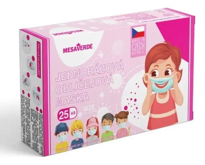 Zobrazit detail výrobku Mesaverde Jednorázová rouška dívčí 25 ks