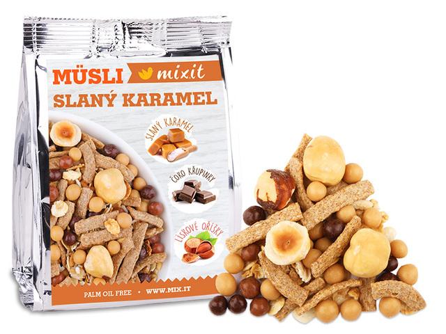 Zobrazit detail výrobku Mixit Pečený Mixit - Slaný karamel & lískové oříšky do kapsy 1 ks, 60 g