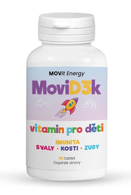 Zobrazit detail výrobku MOVit Energy MoviD3k - vitamin D3 pro děti, 800 I.U., 90 tablet s příchutí pomeranče