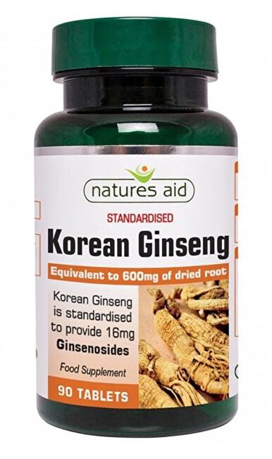 Zobrazit detail výrobku Natures Aid Korejský ženšen pravý - extrakt 40, 90 tablet