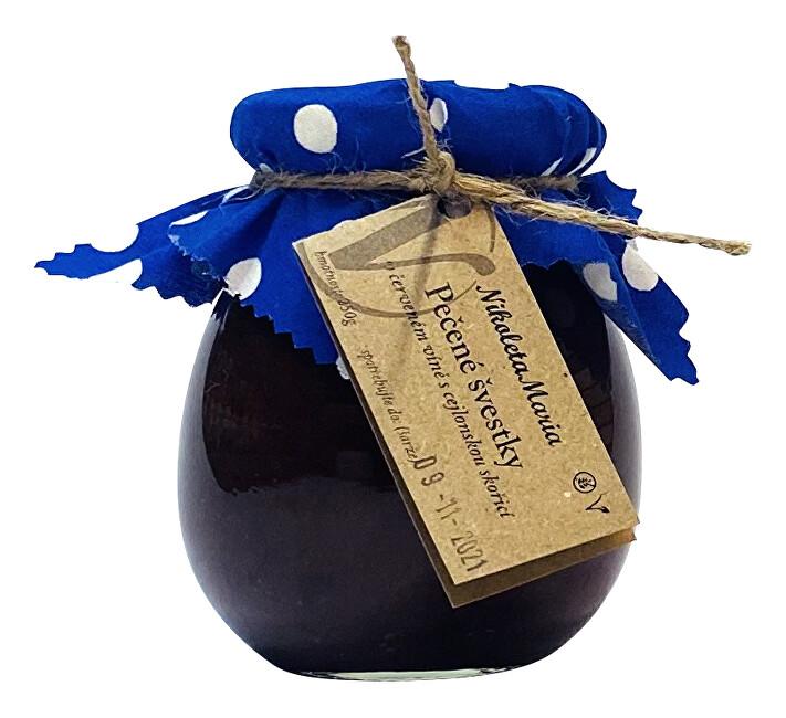 Zobrazit detail výrobku Nikoleta-Maria Pečené švestky na červeném víně 250 g