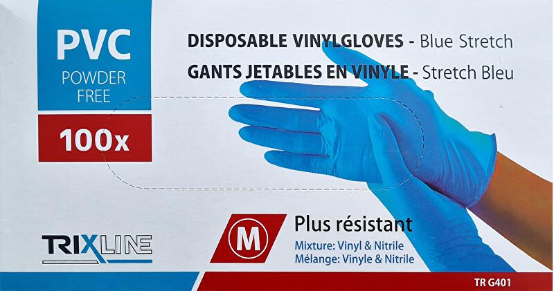 Pharma Activ Rukavice nitril/vinyl modré bez pudru M jedn. 100 ks