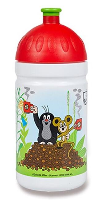 Zobrazit detail výrobku R&B Zdravá lahev - Krtek a jahody - červená 0,5 l