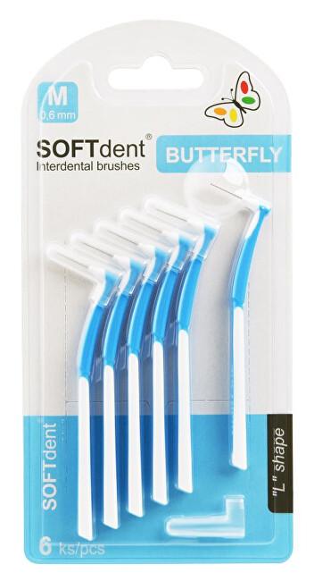 Zobrazit detail výrobku SOFTdent Butterfly Mezizubní kartáček zahnutý 0,6 mm