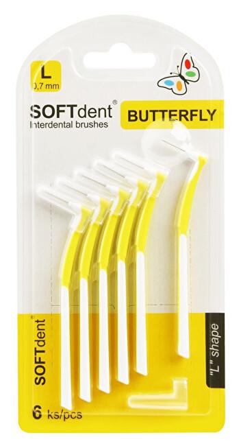 Zobrazit detail výrobku SOFTdent Butterfly Mezizubní kartáček zahnutý 0,7 mm