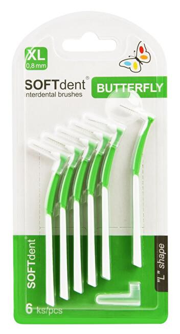 Zobrazit detail výrobku SOFTdent Butterfly Mezizubní kartáček zahnutý 0,8 mm