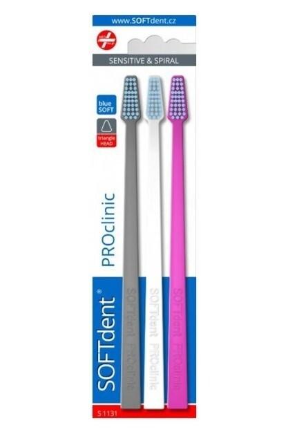 Zobrazit detail výrobku SOFTdent Zubní kartáček PROclinic 3 ks