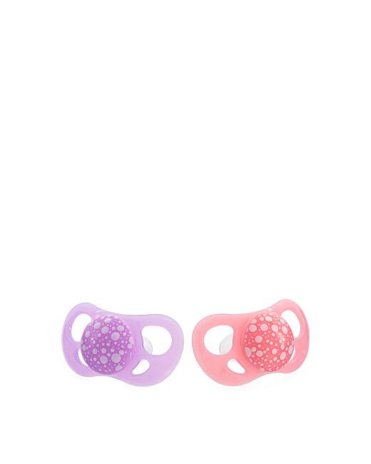 Zobrazit detail výrobku TWISTSHAKE Twistshake 2x dudlík 6+m pastelově růžový a purpurový