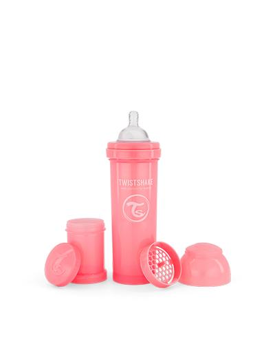 Zobrazit detail výrobku TWISTSHAKE Kojenecká láhev Anti-Colic 330 ml pastelově růžová