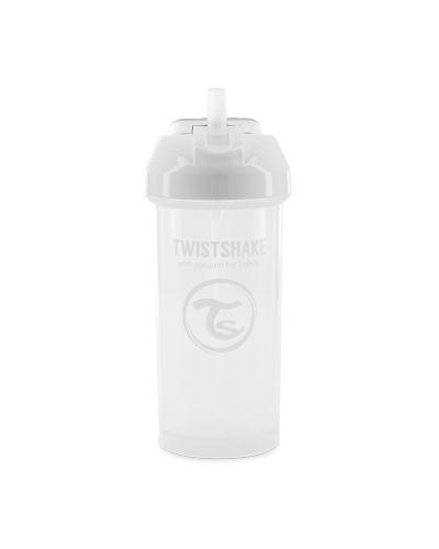 Zobrazit detail výrobku TWISTSHAKE Twistshake netekoucí lahev s brčkem 360 ml 6m+ bílá