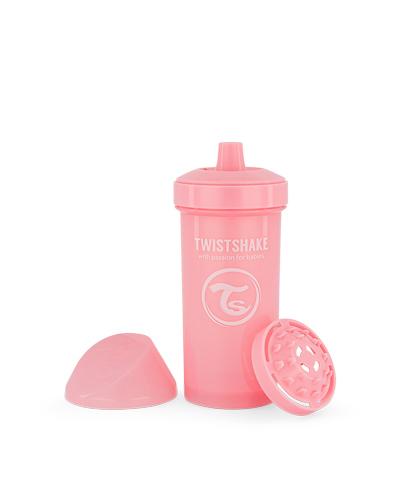 Zobrazit detail výrobku TWISTSHAKE Twistshake netekoucí lahev s pítkem 360 ml 12m+ pastelově růžová