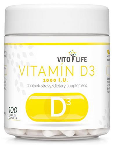 Zobrazit detail výrobku Vito life Vitamín D3 1000 IU, 100 tobolek