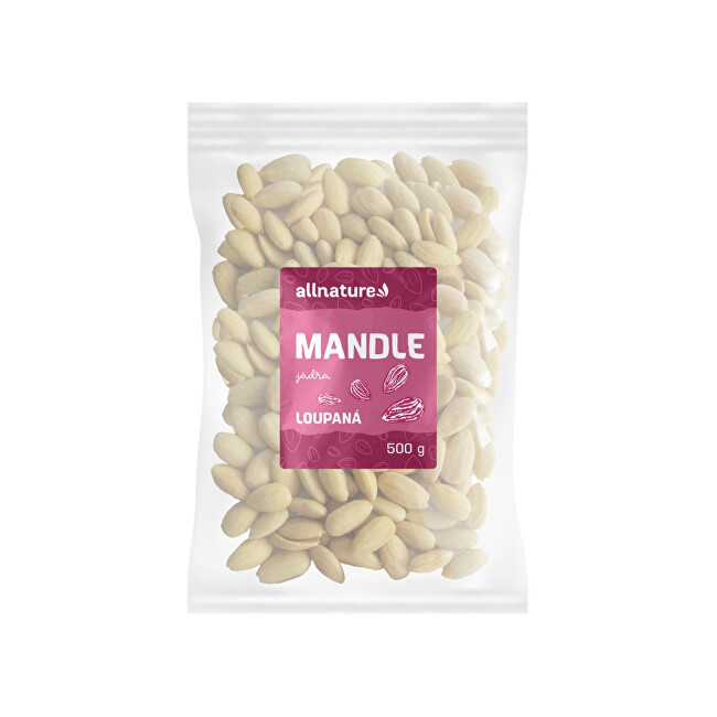 Zobrazit detail výrobku Allnature Allnature Mandle jádra natural loupané 500 g