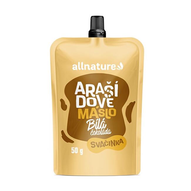 Zobrazit detail výrobku Allnature Arašídovémáslos bílou čokoládou50g