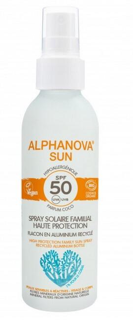 Zobrazit detail výrobku ALPHANOVA SUN opalovací krém sprej rodinný v hliníkovém obalu SPF 50 BIO 150 g