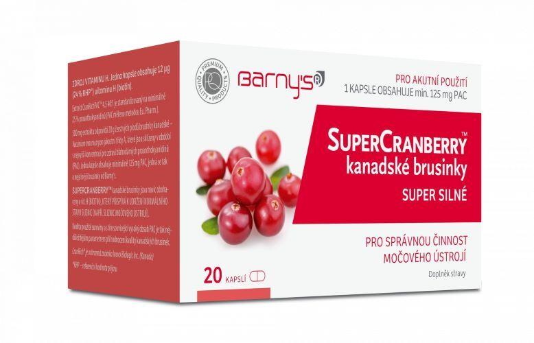 SuperCranberry kanadské brusinky SUPER SILNÉ 20 kapslí