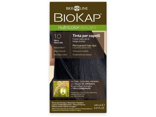 Zobrazit detail výrobku Biokap NUTRICOLOR DELICATO - Barva na vlasy - 1.00 Černá přírodní 140 ml