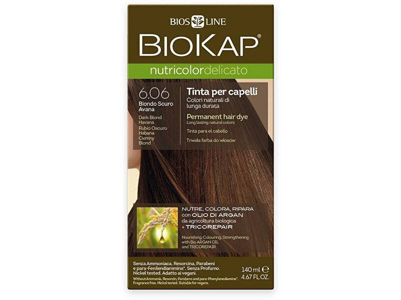 Zobrazit detail výrobku Biokap NUTRICOLOR DELICATO - Barva na vlasy - 6.06 Blond tmavá Havana 140 ml